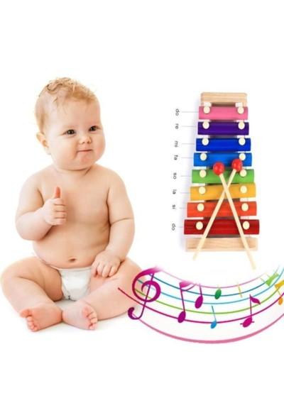 Wooden Toys Ksilofon Kutulu Bebek Oyuncak Selefon Ahşap Müzik Aleti Oyuncak