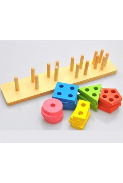 Wooden Toys Ahşap 5'li Geometri Geçirme