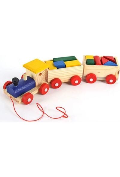 Wooden Toys Ahşap Bul Tak Tren Çocuk Oyuncak Yap Boz Tren Montessori Etkinlik