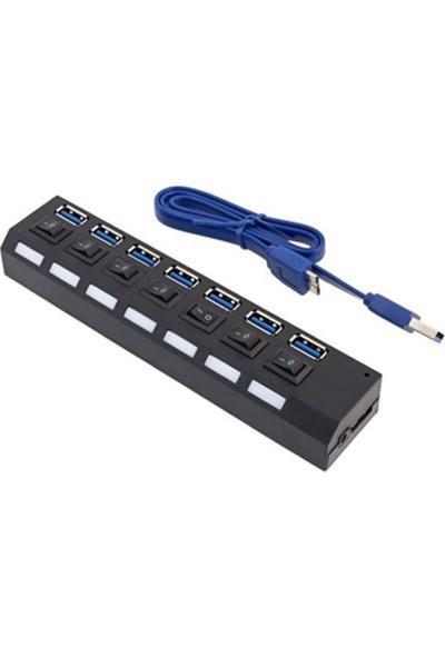 Coverzone 7 In 1 USB 3.0 4 Port Çoğaltıcı Çoklayıcı Hub
