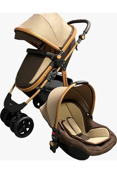 Bebegold Classic Brown Travel Sistem Bebek Arabası