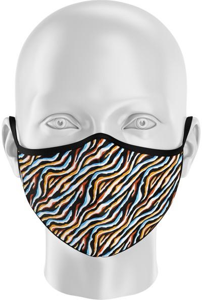 İpeks Gümüş Iyonlu Yıkanabilir Maske - Ipeks, Neon Zebra