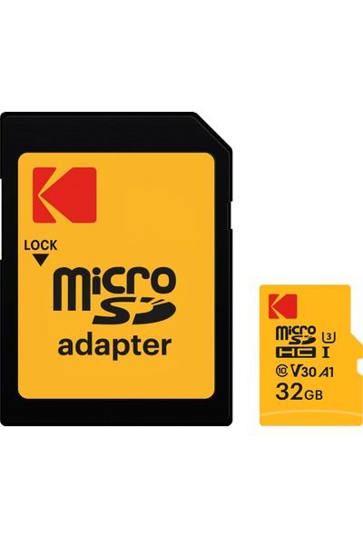 Kodak Ultra Performans 32GB microSDHC-I UHS-I U3 Micro SD Kart + SD Adaptör