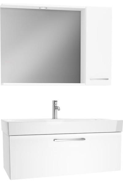 VitrA Optıma 100 cm Banyo Dolabı Seti Beyaz