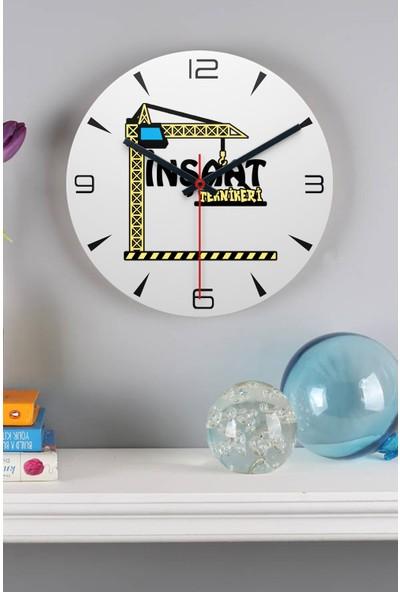 Hediye Dükkanı Inşaat Teknikeri Ahşap Duvar Saati