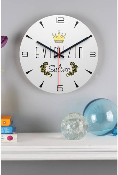 Hediye Dükkanı Hediyedukkani Evimizin Sultanı Ahşap Duvar Saati