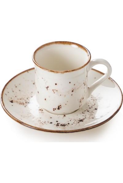 Acar Lavin 6'lı Porselen Kahve Fincan Takımı