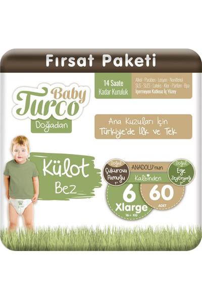 Baby Turco Doğadan Külot Bez 6 Numara Xlarge 60'lı