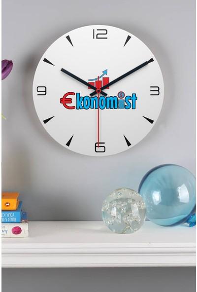 Hediye Dükkanı Ekonomist Ahşap Duvar Saati