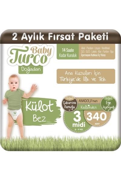 Baby Turco Doğadan Külot Bez 3 Numara Midi 340'lı