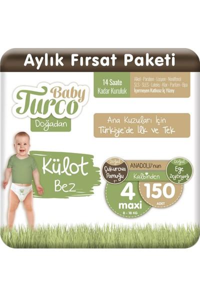 Baby Turco Doğadan Külot Bez 4 Numara Maxi 150'lı