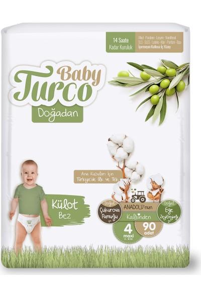 Baby Turco Doğadan Külot Bez 4 Numara Maxi 90'lı