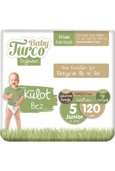 Baby Turco Doğadan Külot Bez 5 Numara Junıor 120'li