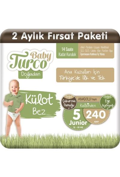 Baby Turco Doğadan Külot Bez 5 Numara Junıor 240'lı