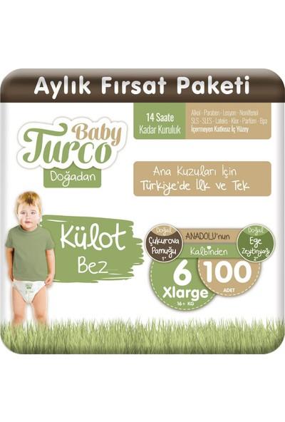 Baby Turco Doğadan Külot Bez 6 Numara Xlarge 100'lü