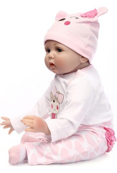 Buyfun 560 mm Silikon Simülasyon Yeni Doğan Bebek Oyuncak