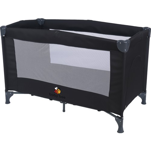 BabyBee Basic Oyun Parkı 60 x 120 cm - Siyah