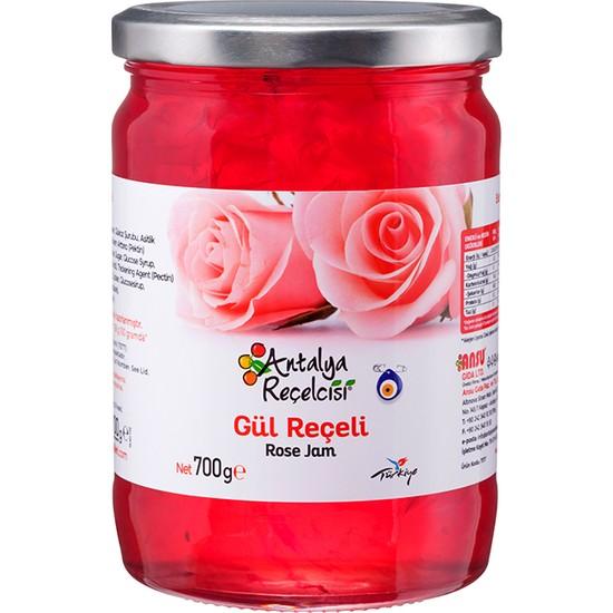 Antalya Reçelcisi Gül Reçeli %50 Meyve Klasik Seri 700 Gr