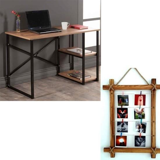 Mavera Çalışma Masası ve Fotoğraf Çerçevesi