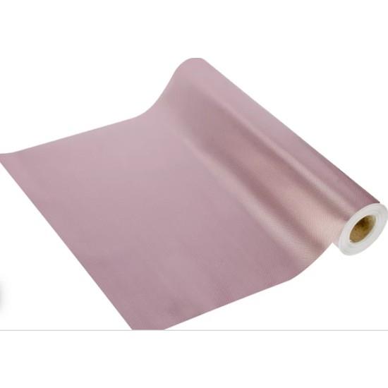 Seron Metalik Eva Kaymaz Raf Dolap ve Çekmece Örtüsü 45CM x 5 Metre Rose