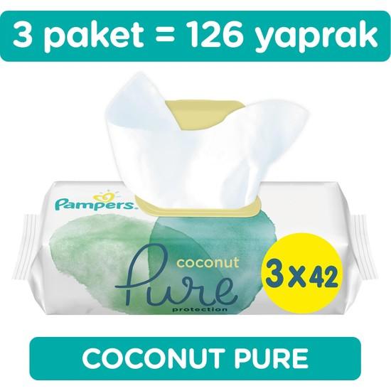 Prima Aqua Pure Coconut Islak Havlu Mendil 3'lü Paket 126 Yaprak