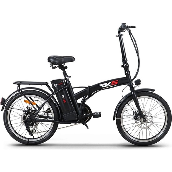 Rks MX25 Katlanabilir Elektrikli Bisiklet Siyah