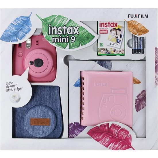 Fujifilm Instax Mini 9 Kit Pembe Jean Çantalı