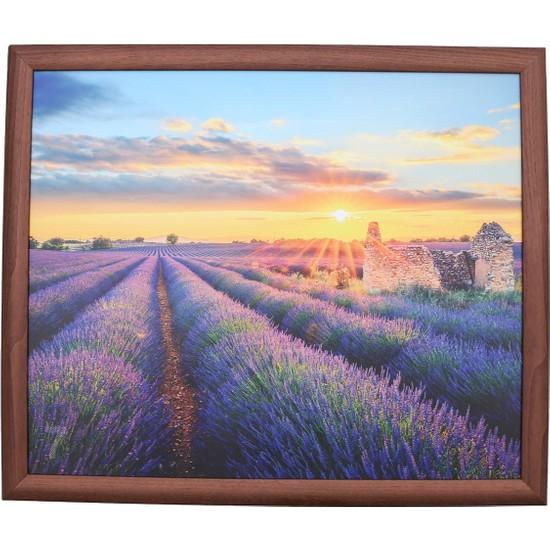 Yedi Home & Decor Keyif Tepsisi Lavender Field