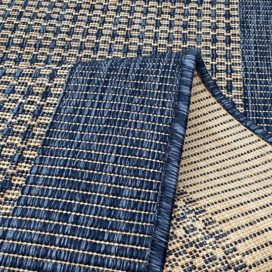 Payidar Sisal SL146 Bej / Mavi 80 x 300 cm Hasır Görünümlü Yıkanabilir Jüt Halı