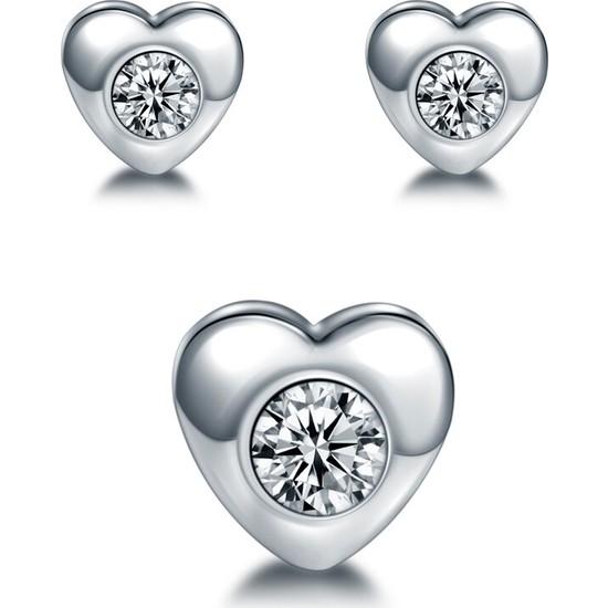 VipBT 3 Parça Mıknatıslı Kalp Çelik Küpe Manyetik Hızma
