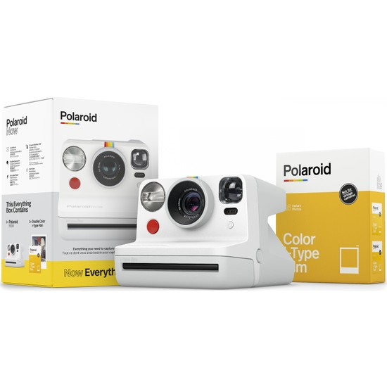 Polaroid Now Beyaz Instant Fotoğraf Makinesi ve Hediye Seti