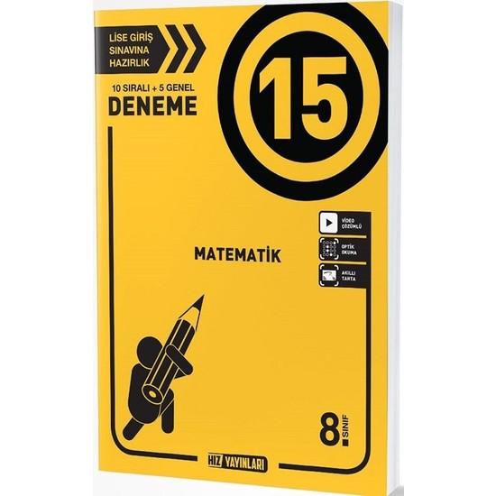Hız Yayınları 8. Sınıf Matematik 15 Deneme