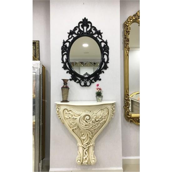 Çelik Ayna Dekoratif Ayna Siyah Renk