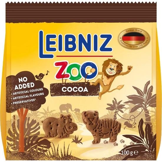 Leibniz Zoo Jungle Biscuits Cocoa Kakaolu Bisküvi 100 gr