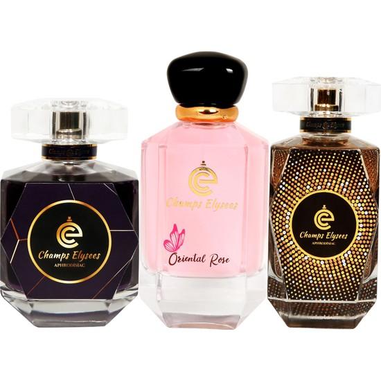 Champs Elysees Aphrodisiac Extrait De Parfum Set 2 Adet Kadın 1 Adet Erkek