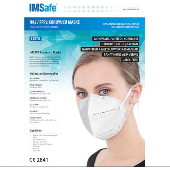 Imsafe N95 Ffp2 Maske 10'lu