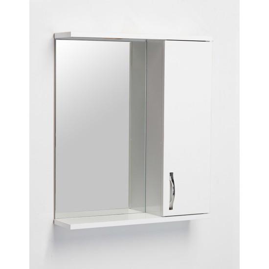 Artı Saydam Aynalı Üst Modül Mdf Banyo Dolabı 65 cm