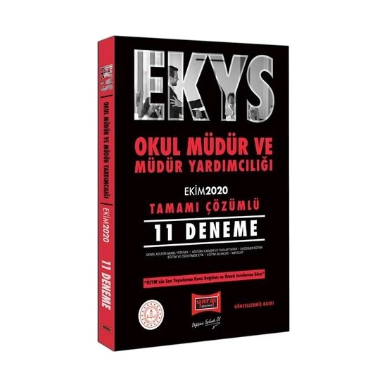 Yargı Yayınları EKYS Okul Müdür ve Müdür Yardımcılığı Tamamı Çözümlü 11 Deneme Ekim 2020