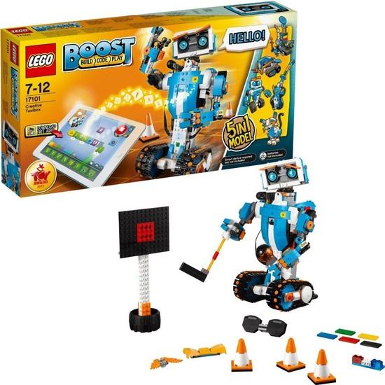 LEGO Boost 17101 Yaratıcı Alet Kutusu Yapım Seti Çocuk ve Yetişkin için Kodlama Oyuncak Robot