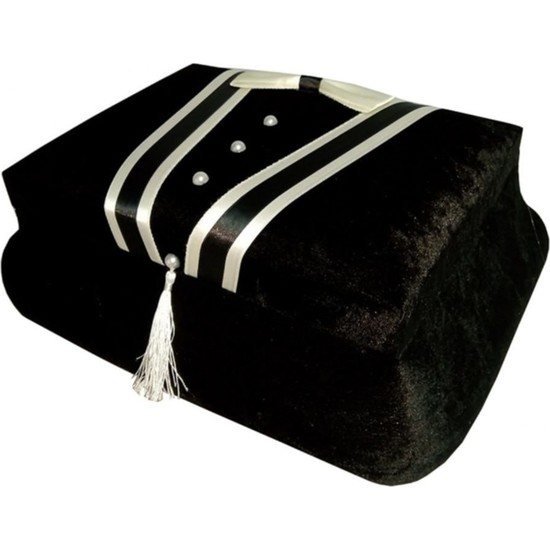 Kırçova Tekstil Şura Damat Traş Sandığı Siyah