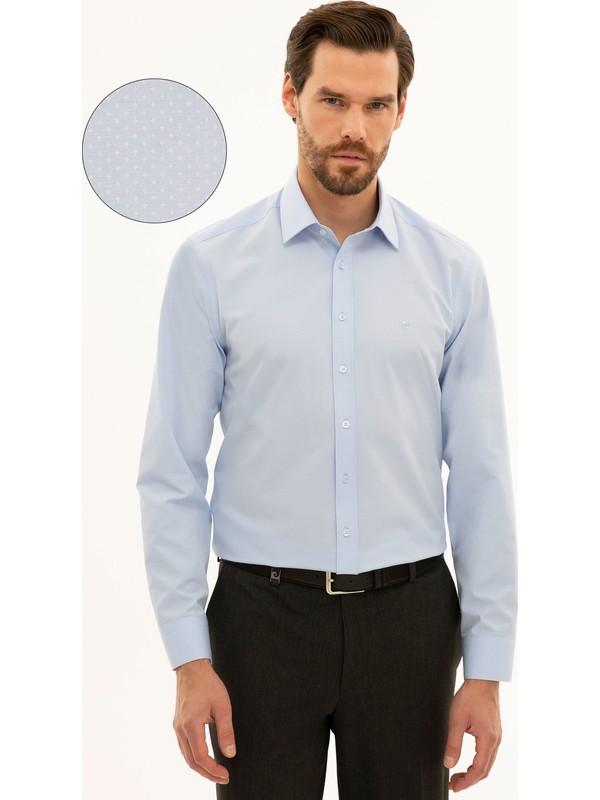 Pierre Cardin Açık Mavi Slim Fit Gömlek 50233532-VR003