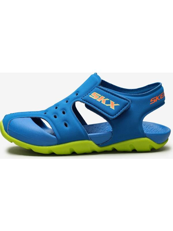 Skechers Side Wave Küçük Erkek Çocuk Mavi Sandalet 92330N Bllm