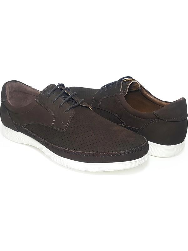 Delta Bağcıklı Yazlık Nubuk Deri Erkek Ayakkabı