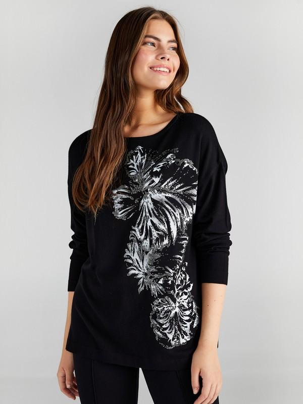 Faik Sönmez Kadın Çiçek Baskılı Triko Bluz 61751