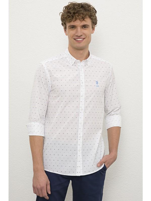 U.S. Polo Assn. Erkek Mavi Gömlek Uzunkol 50231412-VR036