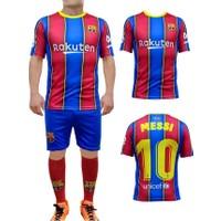 Liggo Barcelona Messi Çocuk Forma Takımı Forma Şort Çorap Hediyeli