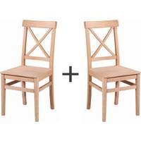 Obuts Home Çapraz Izgaralı Sandalye 4604 2 Li Ahşap Ham