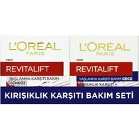 Loreal Paris Revitalift Yaşlanma Karşıtı Gündüz Bakım Kremi 50 ml + Gece Bakım Kremi 50 ml