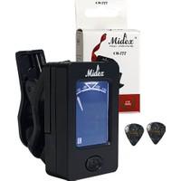 Midex CR-777 Akort Cihazı Aleti Tuner (Tüm Enstrümanlara Uygun) + Pena Hediye