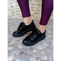 Miss Park Moda Cilt Süet Rugan Sneaker